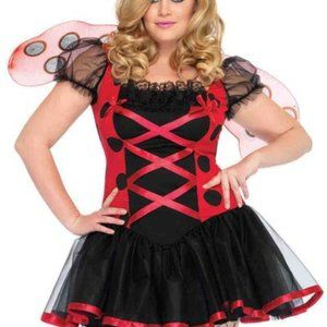 Leg Avenue Ladybug Costume & Mask - Size 1X-2X